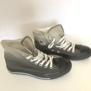 Black Gray Ombre Fade Converse Womens 9